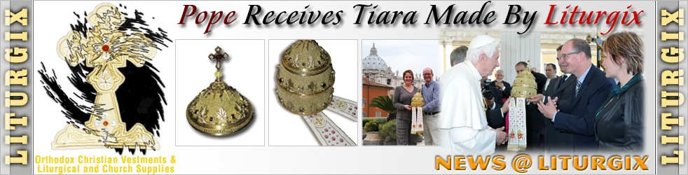 Pope Receives Tiara Made By Liturgix