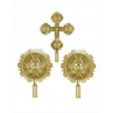 Brass Processional Set of Liturgical Fans (Ripidions)