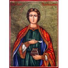 Hand-Painted Icon of Saint Pantaleimon
