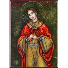Hand-Painted Icon of Saint Barbara