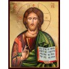 Hand-Painted Icon of Christ Pantocrator