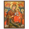Hand-Painted Icon of Holy Virgin with Saints