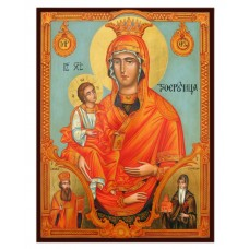Hand-Painted Icon of Virgin with Three Hands (Panagia Tricherousa)