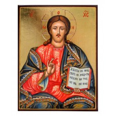 Hand-Painted Icon of Jesus Christ Pantocrator