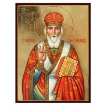 Hand-Painted Icon of Saint Nicholas