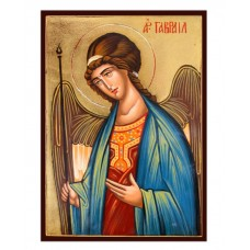 Hand-Painted Icon of Archangel Gabriel