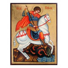 Hand-Painted Icon of Saint George