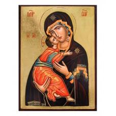 Hand-Painted Icon of Theotokos of Vladimir (Vladimirskaya)