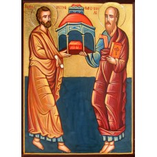 Hand-Painted Icon of St. St. Peter and Paul