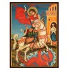 Hand-Painted Icon of Saint George Killing The Dragon