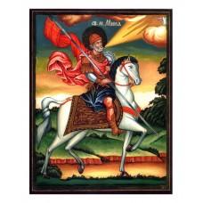 Hand-Painted Icon of Saint Minas on Horseback
