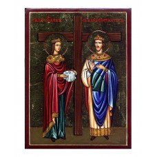 Hand-Painted Icon of Saint Constantine the Great and Saint Helen