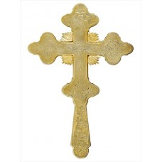 Gold-Plated Blessing Cross with Engravings