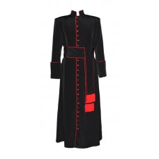Roman-Style Cassock with Band Cincture