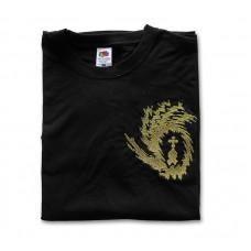 Black Short-Sleeve T-Shirt with Embroidered Liturgix Emblem