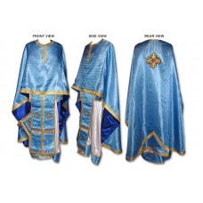 Silk-Brocade Set of Greek-Style Priestly Vestments