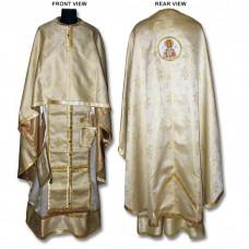 Metallic-Brocade Set of Greek-Style Priestly Vestments