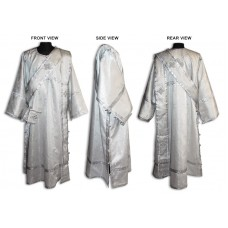 Metallic-Brocade Set of Deaconate Vestments (with Double-Length Orarion)