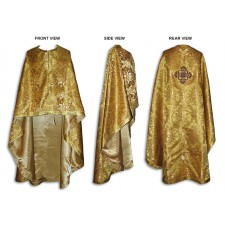 Metallic-Brocade Greek-Style Priestly Phelonion