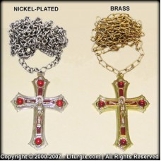 Priestly Pectoral Cross with Chain (with Decorations)