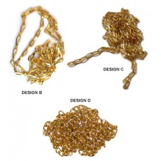 Brass Chains for Pectoral Cross (SET OF THREE)