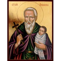 Hand-Painted Icon of Saint Stylianos