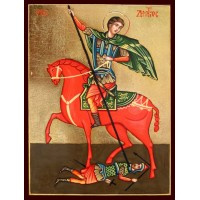 Hand-Painted Icon of Saint Demetrios