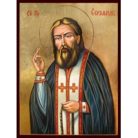 Hand-Painted Icon of Saint Seraphim