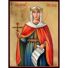 Hand-Painted Icon of Saint Petka