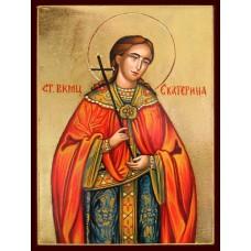 Hand-Painted Icon of Saint Katherine