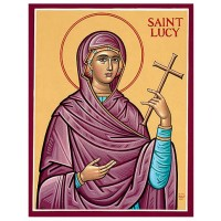 Hand-Painted Icon of Saint Lucy
