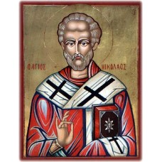 Hand-Painted Icon of Saint Nicholas