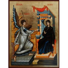 Hand-Painted Icon of The Annunciation