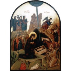Hand-Painted Icon of Nativity of our Lord Jesus Christ