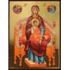 Hand-Painted Icon of The Theotokos Enthroned