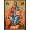 Hand-Painted Icon of Christ Pantocrator Enthroned