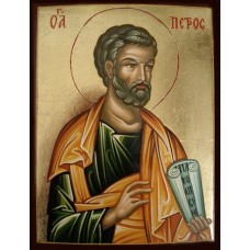 Hand-Painted Icon of Saint Peter