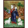 Hand-Painted Icon of Jesus Christ, the Good Shepherd