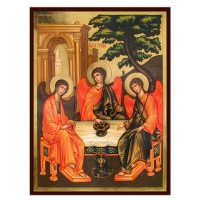 Hand-Painted Icon of Old Testament Trinity