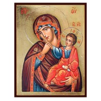 Hand-Painted Icon of Mother of God (Panagia Paramythea)