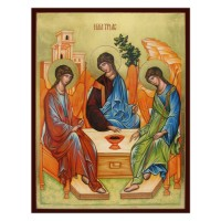 Hand-Painted Icon of Old Testament Trinity (by Rublev)