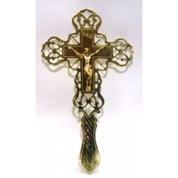 Brass Blessing Cross (Lace-Like Design)