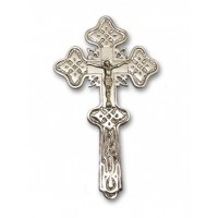 Nickel-Plated Holy Water Blessing Cross