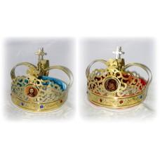 Brass Set of Wedding Crowns