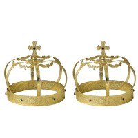 Brass Set of Russian-Style Wedding Crowns