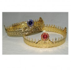 Gold-Plated Set of Wedding Crowns