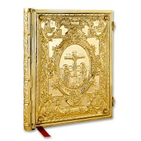 Gold-Plated Gospel Book Cover with Embossed Ornaments