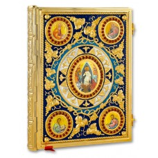 Gold-Plated Gospel Book Cover Decorated with Icons