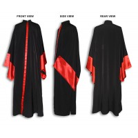 Greek-Style Outer Cassock with Broad Sleeves and Decorative Accents (Exorasson)