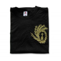 Black Short-Sleeve T-Shirt with Embroidered Liturgix Emblem